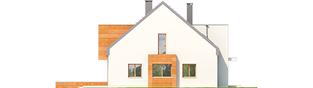 Projekt domu Sansa - elewacja lewa
