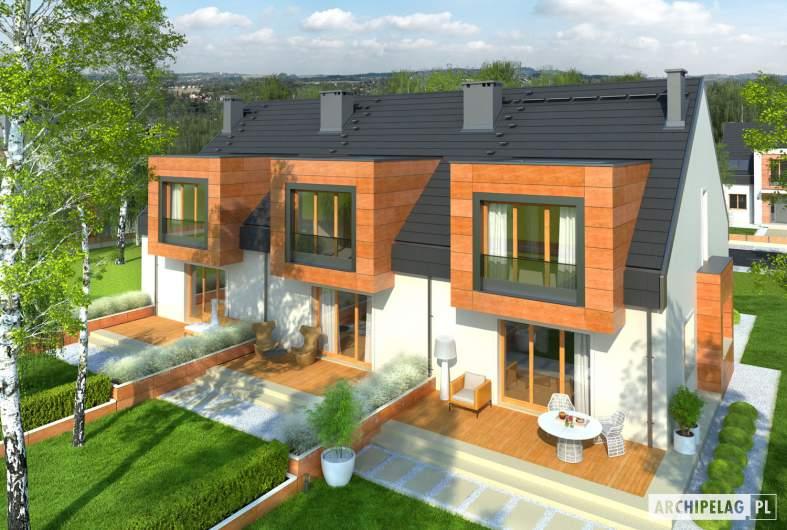 Projekt domu Sansa - Projekty domów ARCHIPELAG - Sansa - widok z góry