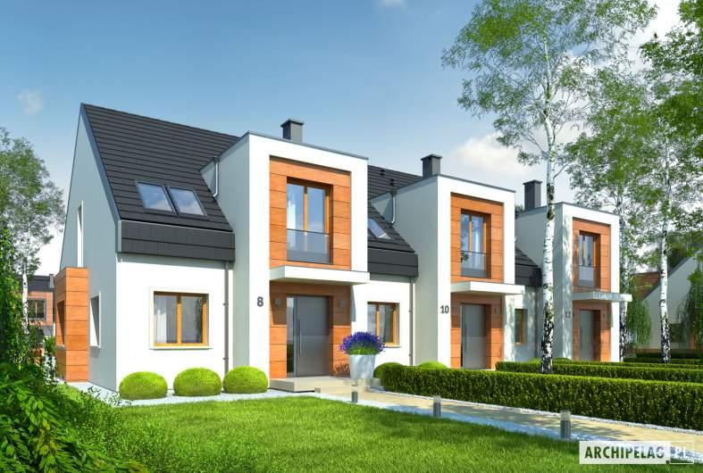 Projekt domu Sansa - Projekty domów ARCHIPELAG - Sansa - wizualizacja frontowa