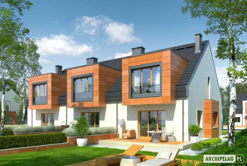 Projekt domu Sansa - Projekty domów ARCHIPELAG - Sansa - wizualizacja ogrodowa