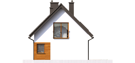 Liv 7 - Projekty domów ARCHIPELAG - Liv 7 - elewacja lewa
