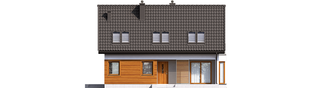 Projekt domu Liv 7 - elewacja frontowa