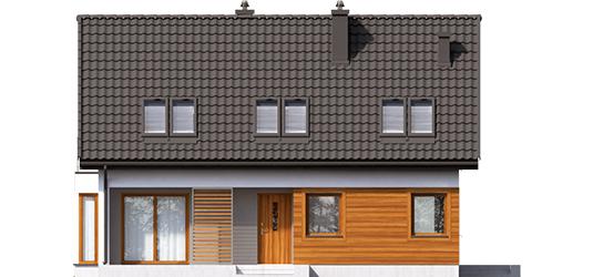 Liv 7 - Projekty domów ARCHIPELAG - Liv 7 - elewacja frontowa