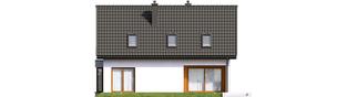 Projekt domu Liv 7 - elewacja tylna