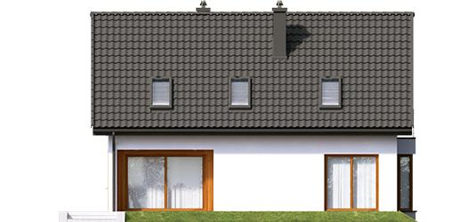 Liv 7 - Projekty domów ARCHIPELAG - Liv 7 - elewacja tylna