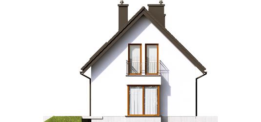 Liv 7 - Projekty domów ARCHIPELAG - Liv 7 - elewacja prawa