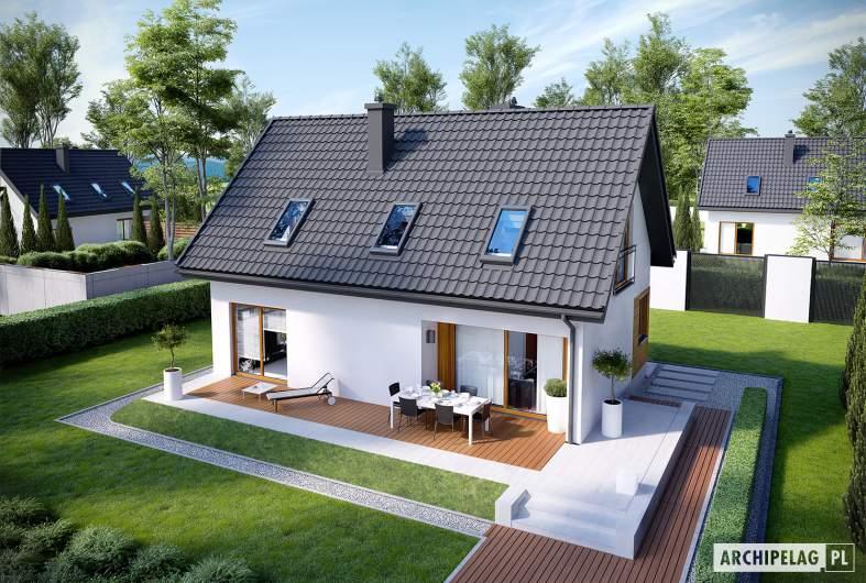 Projekt domu Liv 7 - Projekty domów ARCHIPELAG - Liv 7 - widok z góry