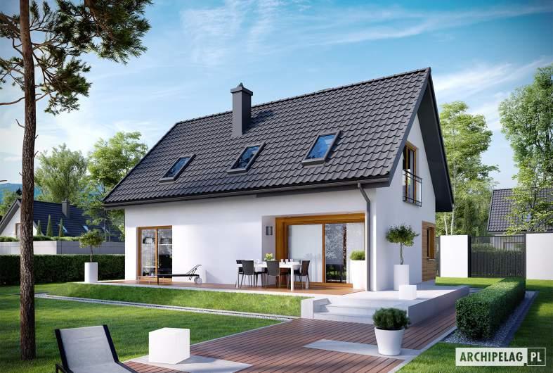 Projekt domu Liv 7 - Projekty domów ARCHIPELAG - Liv 7 - wizualizacja ogrodowa