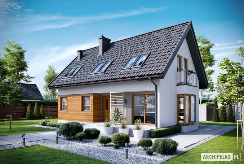 Projekt domu Liv 7 - Projekty domów ARCHIPELAG - Liv 7 - wizualizacja frontowa