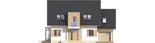 Projekt domu Edi G1 - elewacja frontowa
