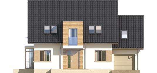 Edi G1 - Projekt domu Edi G1 - elewacja frontowa