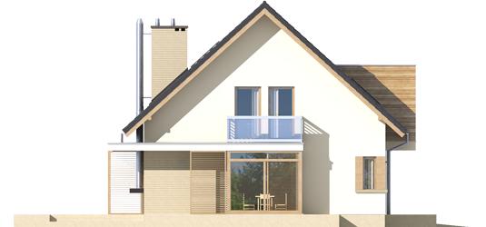 Edi G1 - Projekt domu Edi G1 - elewacja lewa