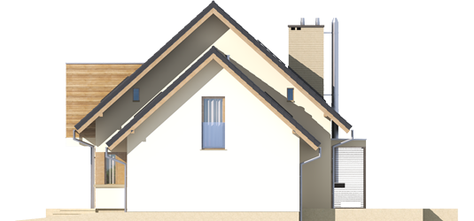 Edi G1 - Projekt domu Edi G1 - elewacja prawa