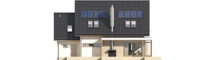 Projekt domu Edi G1 - elewacja tylna