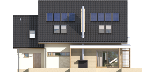 Edi G1 - Projekt domu Edi G1 - elewacja tylna