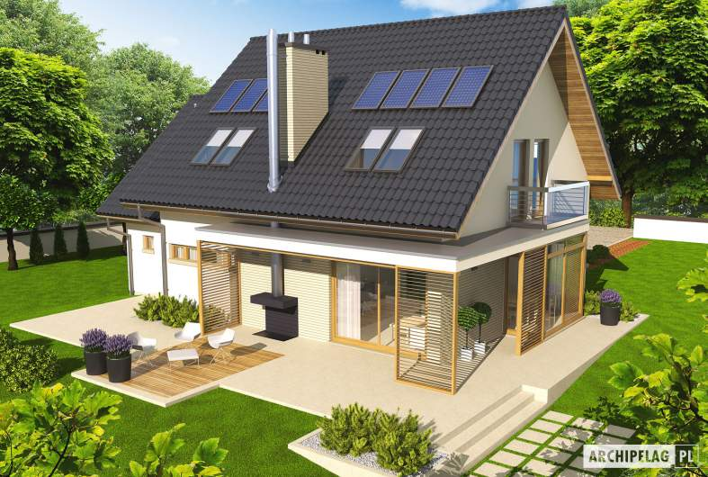 Projekt domu Edi G1 - widok z góry