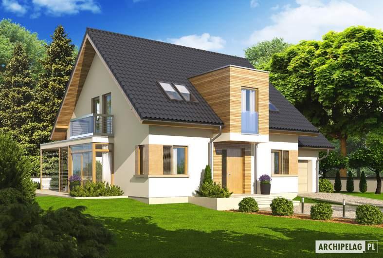 Projekt domu Edi G1 - wizualizacja frontowa