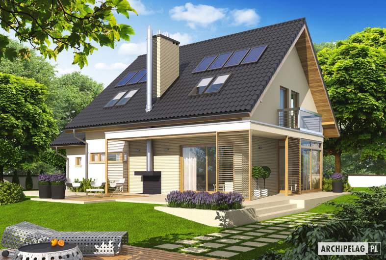Projekt domu Edi G1 - wizualizacja ogrodowa