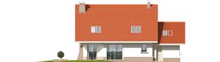 Projekt domu Jagienka G1 - elewacja tylna