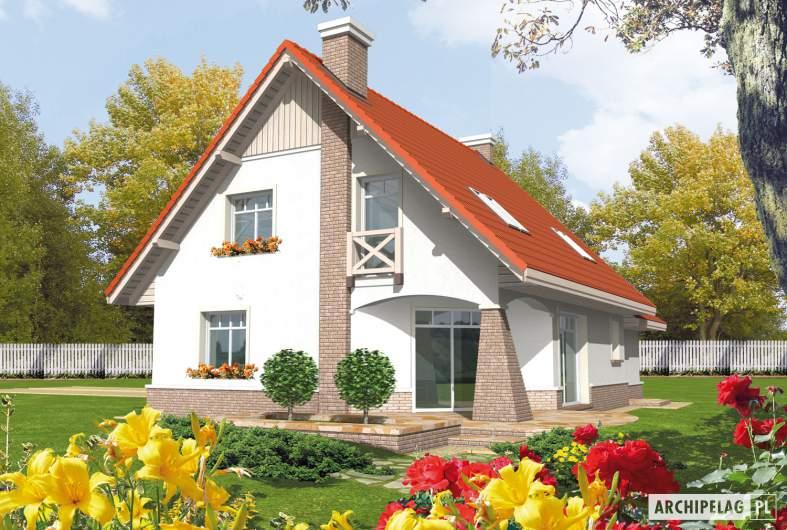 Projekt domu Jagienka G1 - wizualizacja ogrodowa