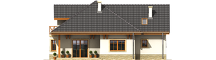 Projekt domu Romeo G1 - elewacja tylna