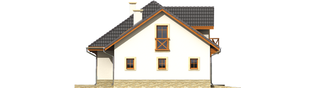 Projekt domu Romeo G1 - elewacja lewa