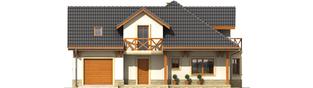 Projekt domu Romeo G1 - elewacja frontowa