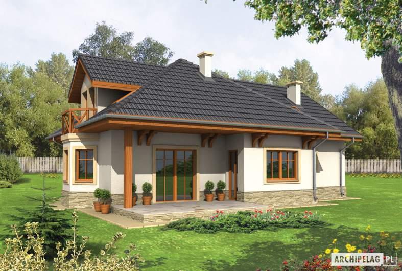 Projekt domu Romeo G1 - wizualizacja ogrodowa