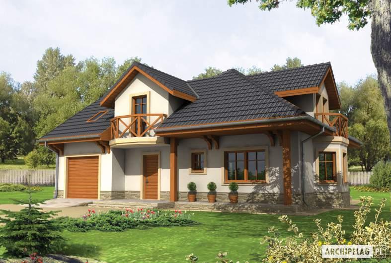 Projekt domu Romeo G1 - wizualizacja frontowa