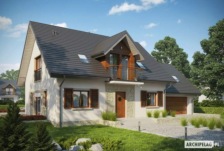 Projekt domu Amaranta G2 ENERGO  - wizualizacja frontowa