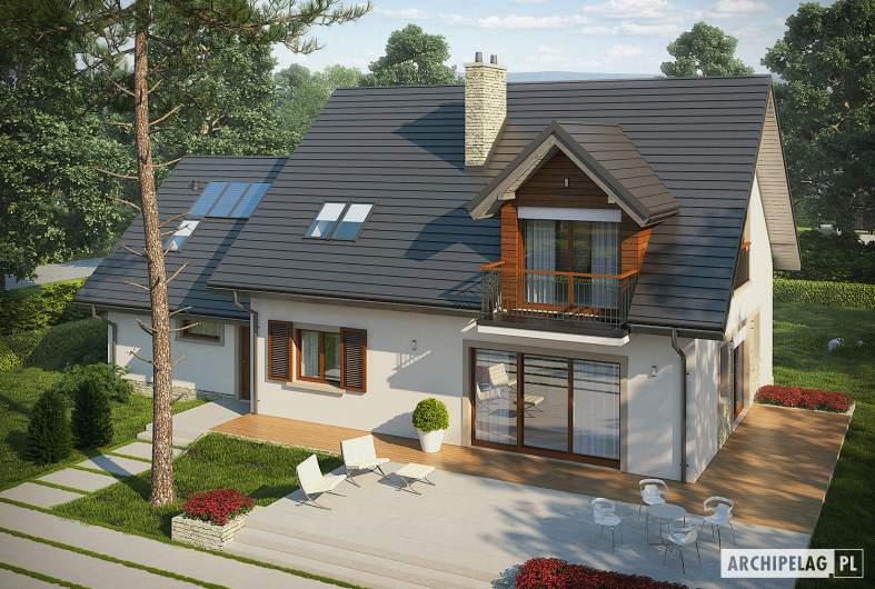 Projekt domu Amaranta G2 ENERGO - widok z góry