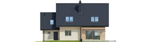 Projekt domu E5 G1 ECONOMIC (wersja D) - elewacja tylna