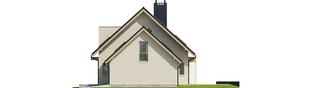 Projekt domu E5 G1 ECONOMIC (wersja D) - elewacja prawa