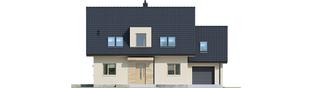 Projekt domu E5 G1 ECONOMIC (wersja D) - elewacja frontowa