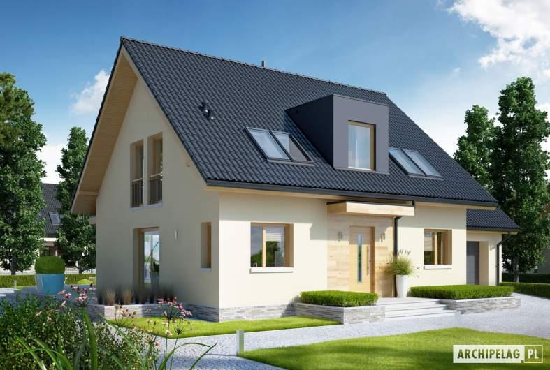 Projekt domu E5 G1 ECONOMIC (wersja D) - wizualizacja frontowa