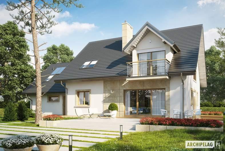 Projekt domu Amaranta II G2 ENERGO - wizualizacja ogrodowa