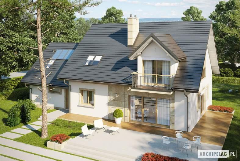 Projekt domu Amaranta II G2 ENERGO - widok z góry