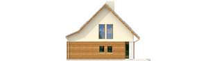 Projekt domu Kim (wersja C) - elewacja prawa