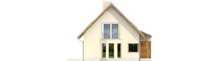 Projekt domu Kim (wersja C) - elewacja lewa