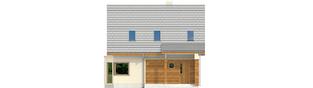 Projekt domu Kim (wersja C) - elewacja frontowa