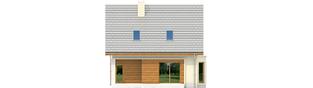 Projekt domu Kim (wersja C) - elewacja tylna