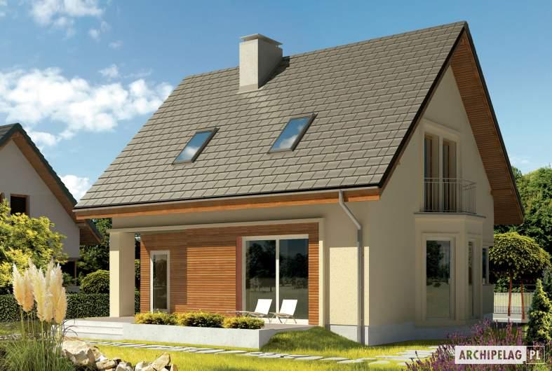 Projekt domu Kim (wersja C) - wizualizacja ogrodowa