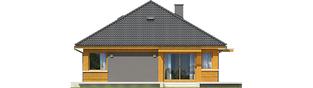 Projekt domu Anabela ENERGO PLUS - elewacja lewa