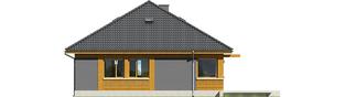 Projekt domu Anabela ENERGO PLUS - elewacja tylna