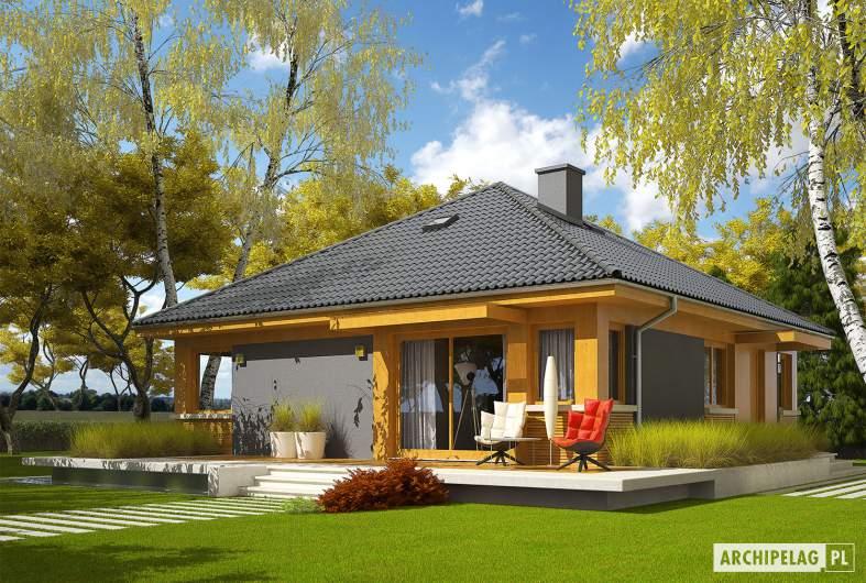 Projekt domu Anabela ENERGO PLUS - wizualizacja ogrodowa