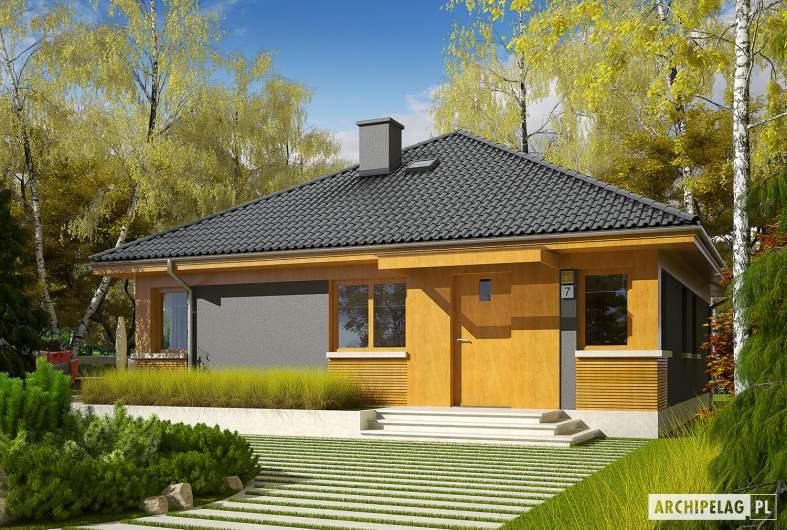 Projekt domu Anabela ENERGO PLUS - wizualizacja frontowa