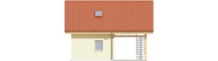Projekt domu Budynek gospodarczy G35 (z wiatą) - elewacja frontowa