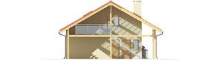 Projekt domu Budynek gospodarczy G35 (z wiatą) - elewacja prawa