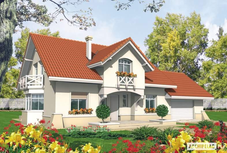 Projekt domu Nadina G2 - wizualizacja frontowa