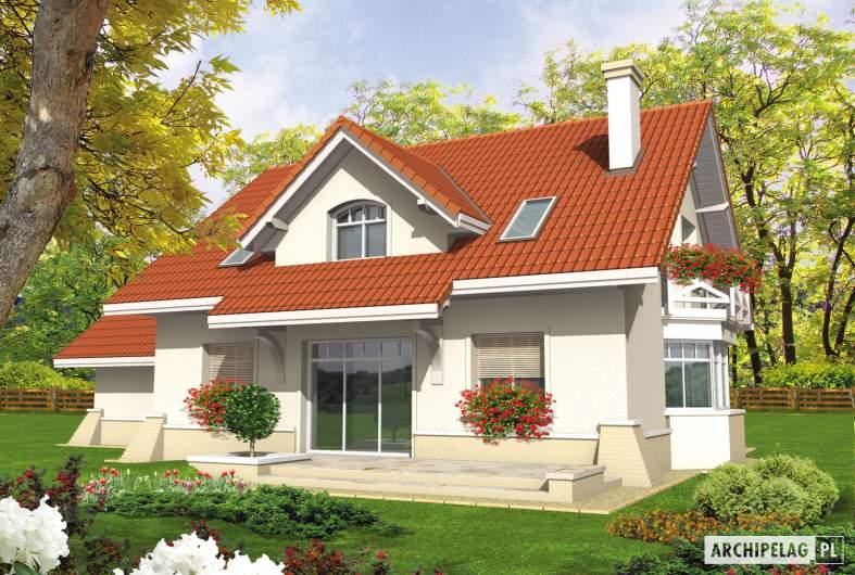 Projekt domu Nadina G2 - wizualizacja ogrodowa